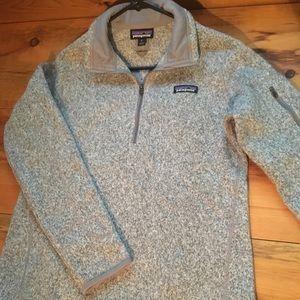 Patagonia grey 1/4 zip pullover